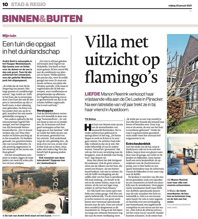 Een tuin die opgaat in het duinlandschap - Piek Zweverink Hoveniers
