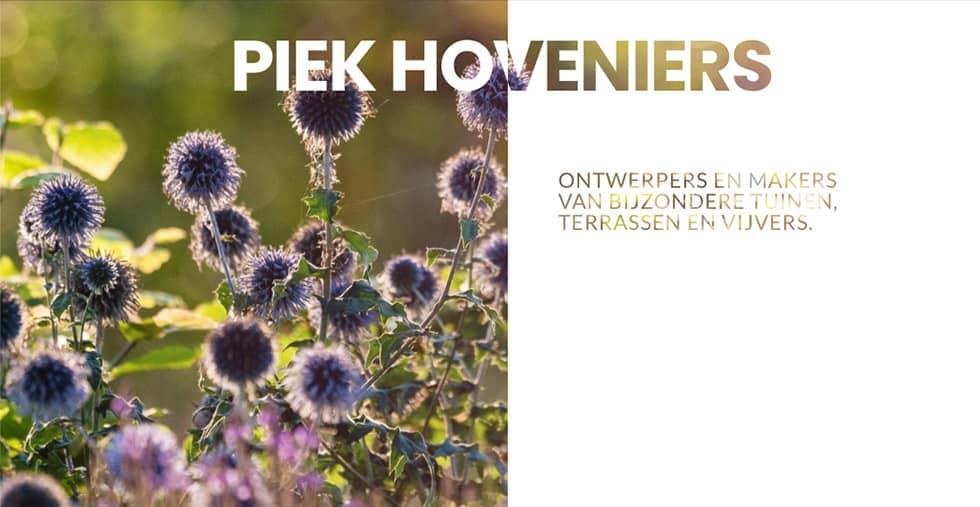 Home header voor mobiel - Piek hoveniers