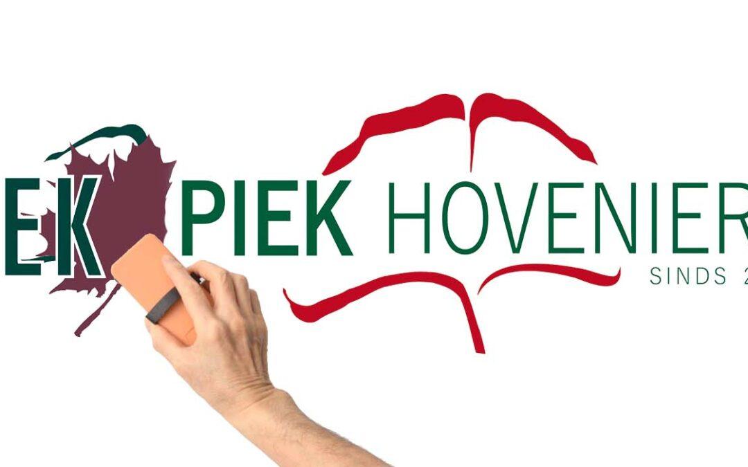 Piek hoveniers: nieuwe naam, nieuw logo, nieuwe locatie